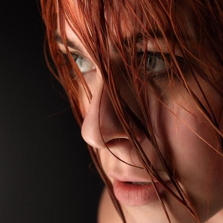 disheveled beauty woman  photo