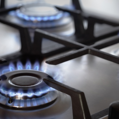 gas fire: stove Stock Photo