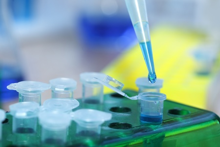 test tubes: test tubes and dropper Stock Photo