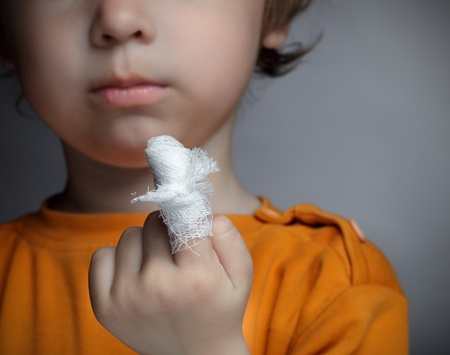 boy with a wound on his finger Stock Photo - 13553759