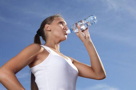 water drink: beauty girl drink water
