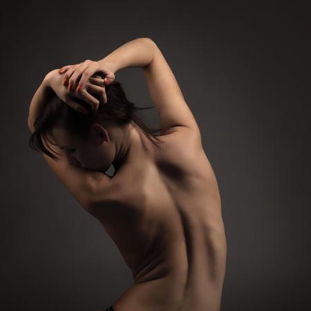 nude black women: beuty nude woman Stock Photo