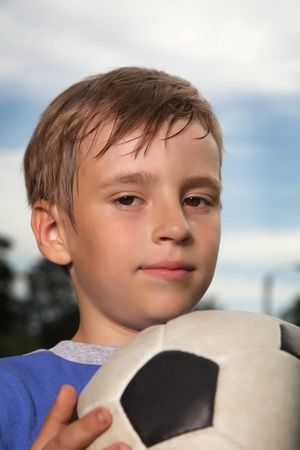 boys only: boy with soccer ball