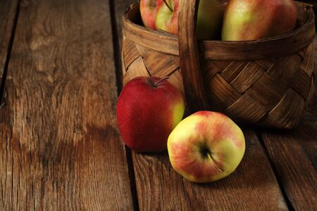apples on wood deck Stock Photo - 13880489