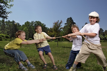 child tug of war photo