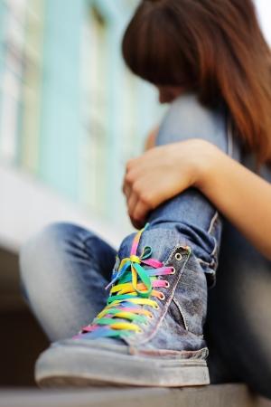 adolescencia: adolescente problema Foto de archivo