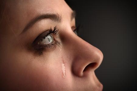 beauty girl cry photo