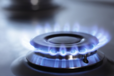 gas stove: stove Stock Photo