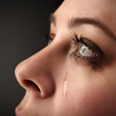 schoonheid meisje huilen Stockfoto