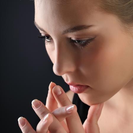 negative emotion: beauty girl cry
