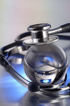 stethoscope on metal deck Stock Photo - 15777124