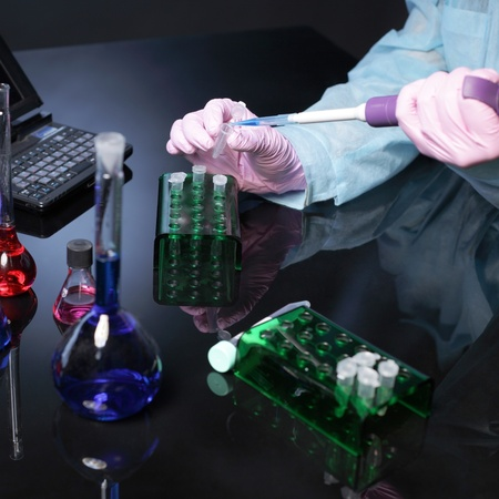 laboratory equipment: laboratories experiment Stock Photo