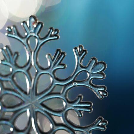 composite image: snowflake Stock Photo
