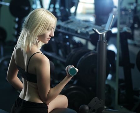 Young woman training Stock Photo - 17643057