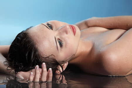 beauty woman in water Stock Photo - 18521298