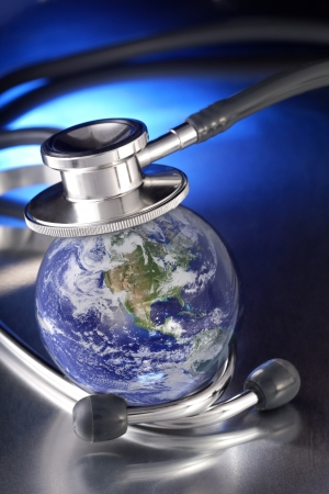 stethoscope on earth  photo