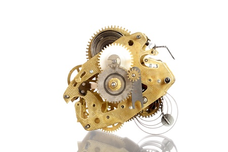 gold watch: clockworks Stock Photo