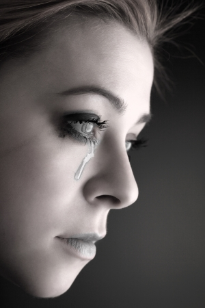 beauty girl cry Stock Photo - 22261228