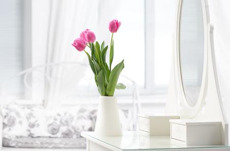 tulip in room Stockfoto