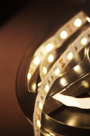 LED Light Strip Stockfoto