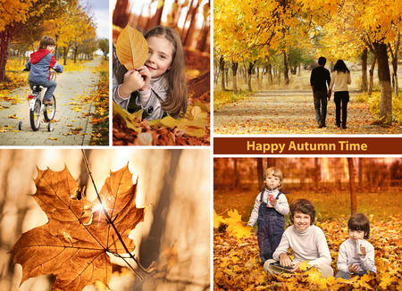 autumn time collage  landscape photo