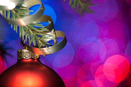 adorn: christmas ball and fir