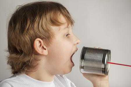 tin can telephone: beauty boy speak in tin can telephone