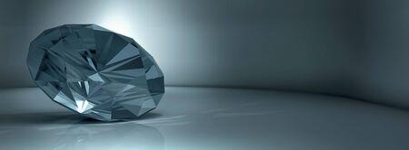 shining crystal diamond on a blue background