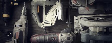 Elektrisches Handwerkzeug (Schraubendreher Drill Saw Puzzle jointer) Standard-Bild