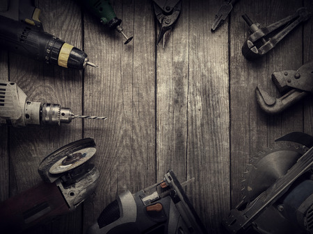 Elektrisch handgereedschap (schroevendraaier Drill Saw puzzel jointer) bovenaanzicht