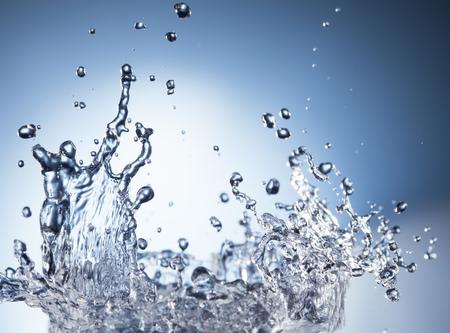 splash de agua: resumen salpicaduras de agua azul