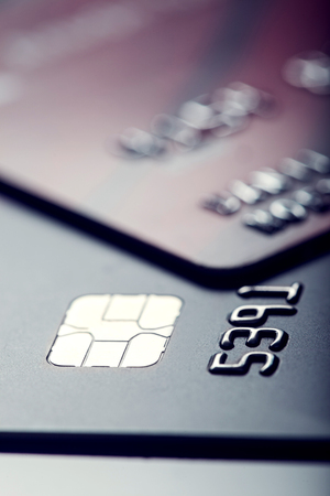 Credit cards. Plastic cards. Stock Photo