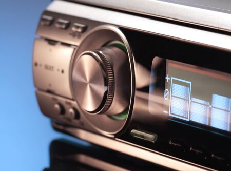 Modern Car Audio System. Shallow Dof