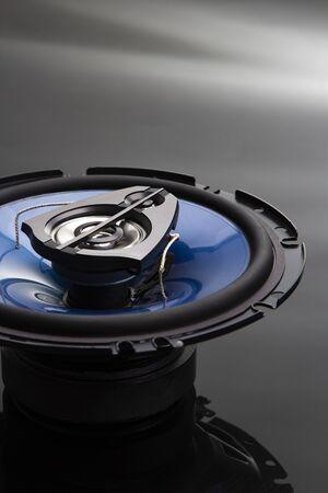 Three-way speaker system, coaxial speaker, car audio music, sub woofer Banco de Imagens