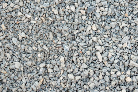 sand quarry: Crushed stone, gravel texture and background. Stock Photo