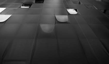 conveys: Rain on canvas roof that conveys the loneliness and emptiness with copy space. Stock Photo