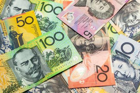 Colorful of Australian dollars money background. 版權商用圖片