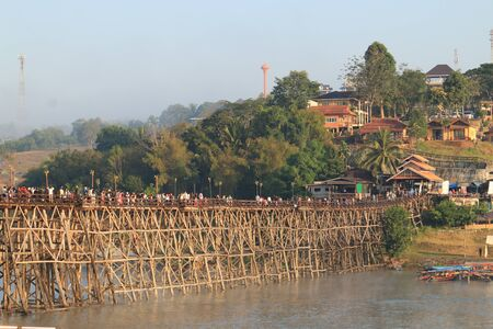 sangkhla buri: The bridge in Sangkhla Buri. In Thailand.