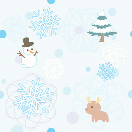 Winter seamless pattern Иллюстрация
