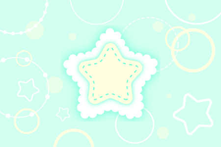 cute winter star background with bubble
