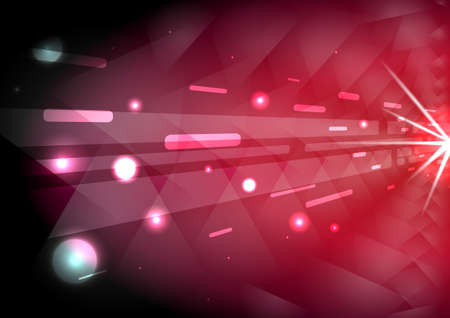 red passion abstract glow light ray background with triangle tunnel and sparkle light