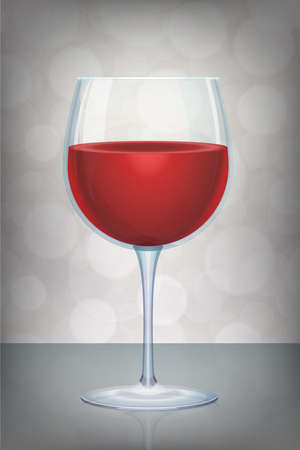 isolated red wine glass vector with mystic abstract background Иллюстрация