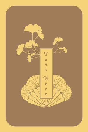 japonais: cru élégant modèle japonais et chinois d'or carte d'invitation