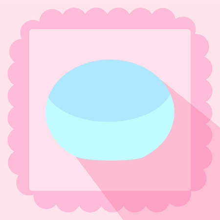 cosmetic cream flat icon on pink background Иллюстрация