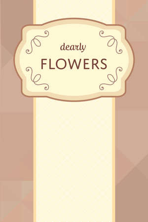 brown sparkling template with cream beige flourish label tag template