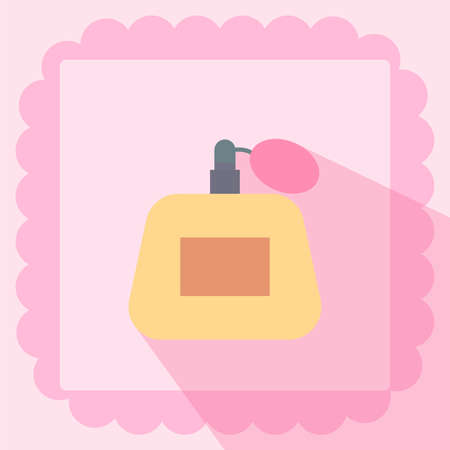 perfume flat icon on pink background