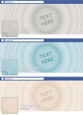 face book: zen sand minimal style face book page cover banner and background background template set Illustration