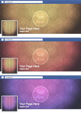 classic elegant face book page cover banner and background background template set