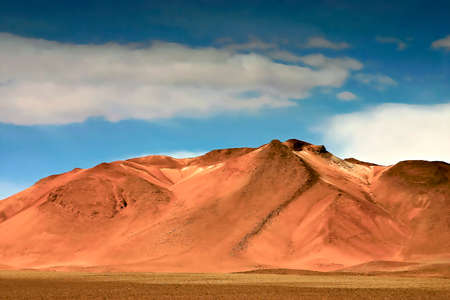 Colorful landscape of the Andes mountain range in South Lipez in Bolivia, a country of great contrasts and strong shades of color Stock fotó