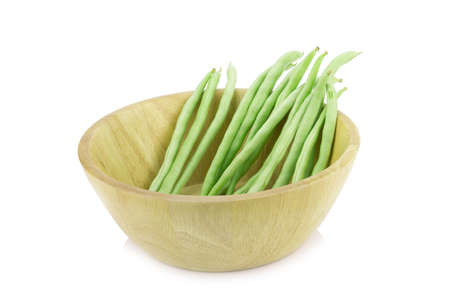 pea pod: green peas isolated on white background.. Stock Photo